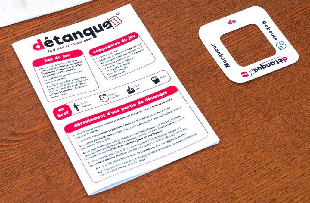 Emballage règle du jeu et marqueur
